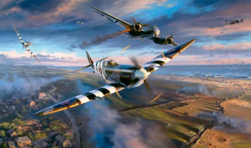 Victory Over Gold - Over The Normandy Beaches by Nicolas Trudgian