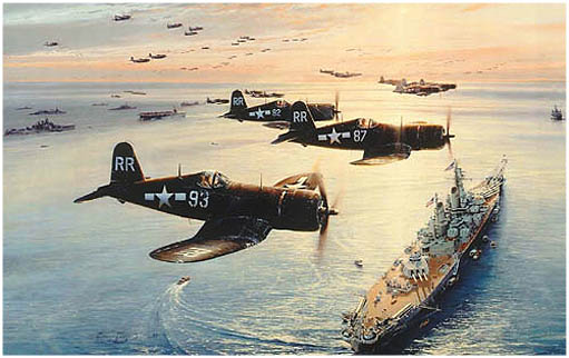 Victory Flyover by Robert Taylor - Aviation Art