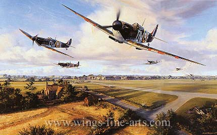 Their Finest Hour -  Battle Of Britain Spitfire by By Nicolas Trudgian - Aviation Art