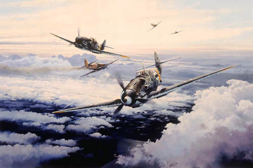 Knights of the Eastern Front - Giclee by Robert Taylor - Aviation Art of the Me109 (Bf109)
