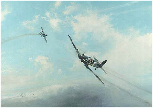 Ramrod by Robert Taylor -  Aviation Art of Spitfire Signed by Johnnie Johnson