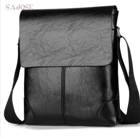 bdd663fb115d Crossbody Bags For Men s PU Leather Shoulder Bag Casual Vintage 2 Sets  Fashion Business High Quality