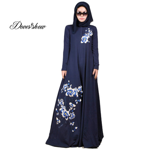 ba8880b87756 Fashion Embroidery Muslim Dress Abaya in Dubai Islamic Clothing For Women  Muslim Abaya Jilbab Djellaba Robe