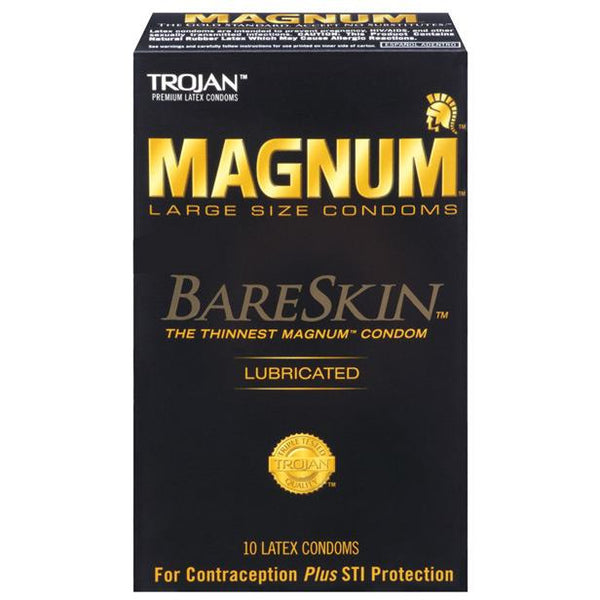 Trojan Magnum Bareskin Condoms - Box Of 10