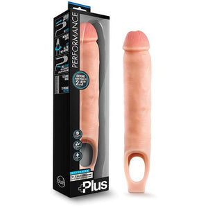 Blush Performance Plus Silicone Cock Sheath Penis Extender - Flesh