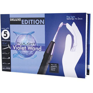 Zeus Electrosex Deluxe Edition Twilight Violet Wand W-5 Attachments