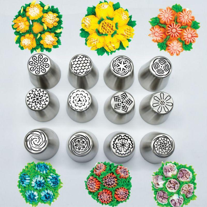 Stainless Steel Flower Nozzles -  12pcs