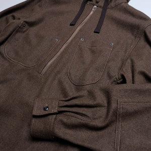 CAMP SERVICE WOOL LONG HOODIE SHIRT