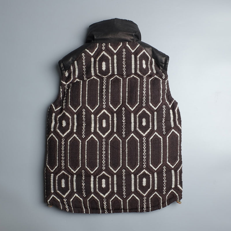 MONRO Down Vest Habyby Jacquard a