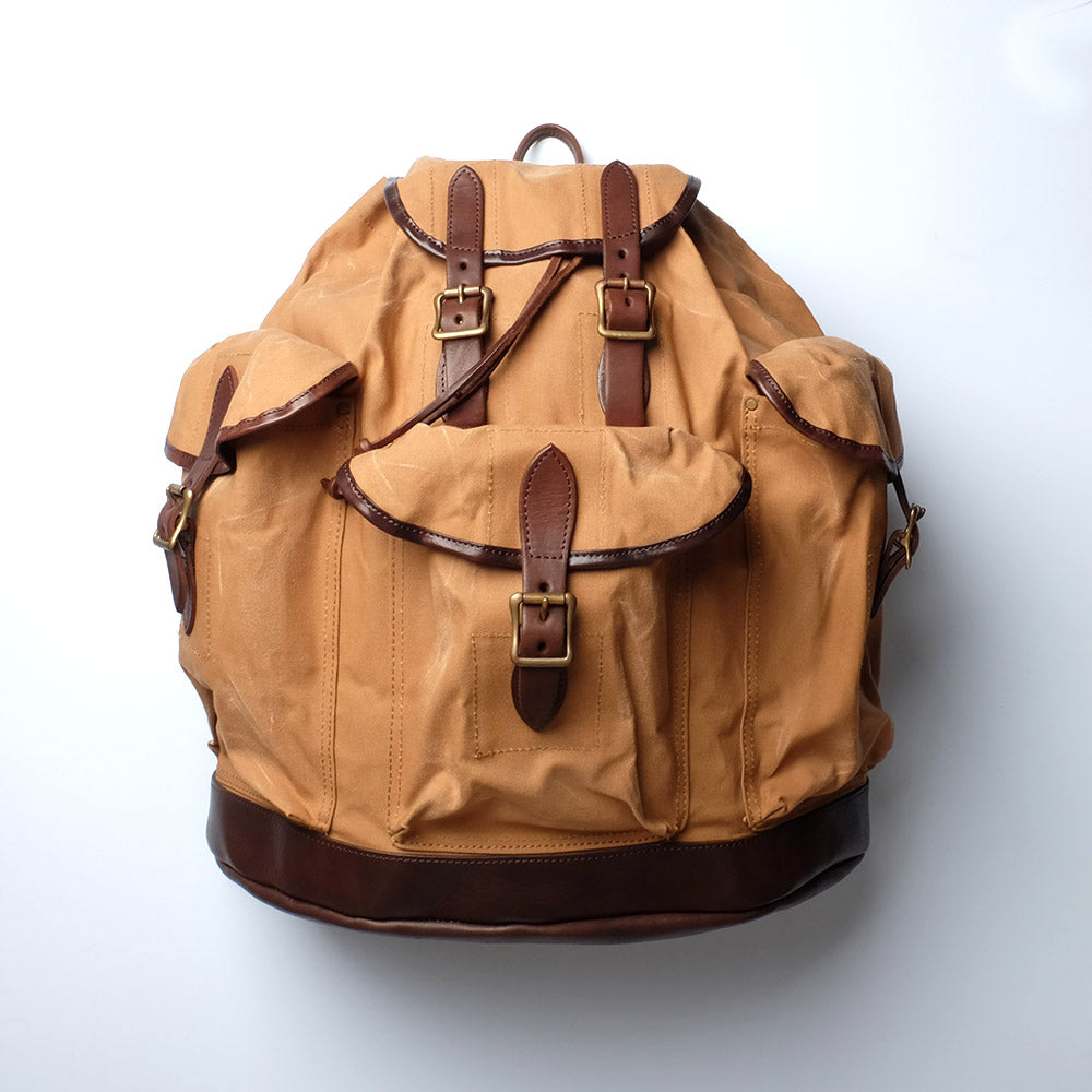 Vasco Canvas Leather Amry Rucksack