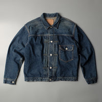 ORSLOW One Yr Wash Pleated Denim Jacket