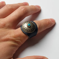 YUKETEN Leather Ring w/ Concho