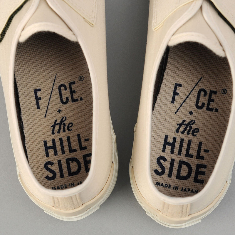 THE HILL-SIDE Bridge Low, Ivory Herringbone E Cordura & Synth Suede