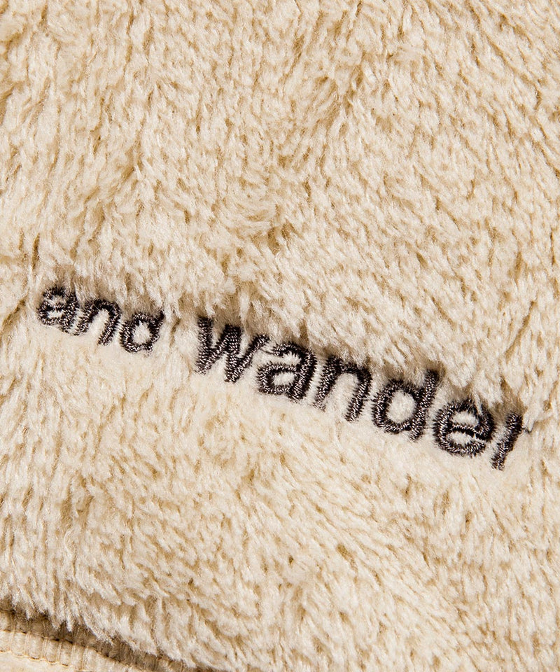 AND WANDER AW83-JT620 high loft fleece hoodie