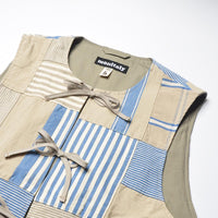 MONITALY Cincho Vest Patchwork M25102-PW
