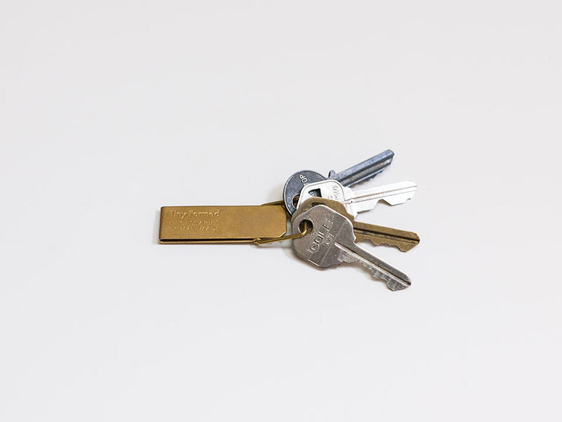 Tiny Formed Key Clip (brass)