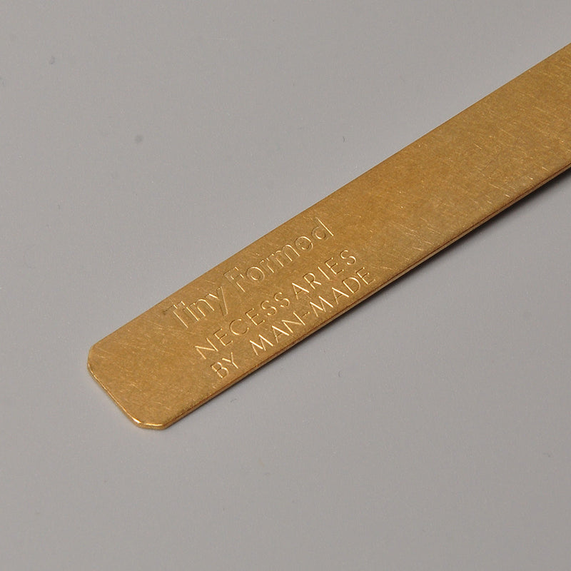 Tiny Formed Bookmark (brass)