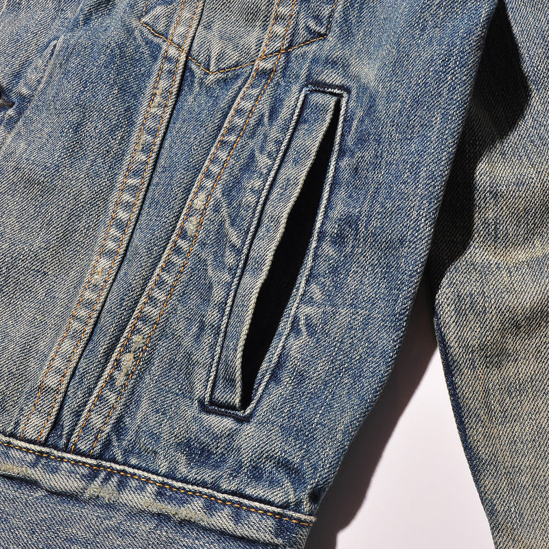 BLUE BLUE JK1874 Selvedge Denim Used Wash Finished G Jacket