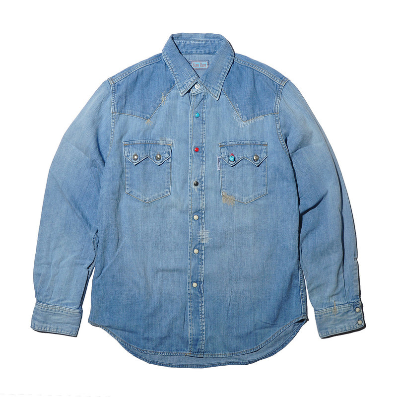 BLUE BLUE ST814n Light Denim School Western Shirt