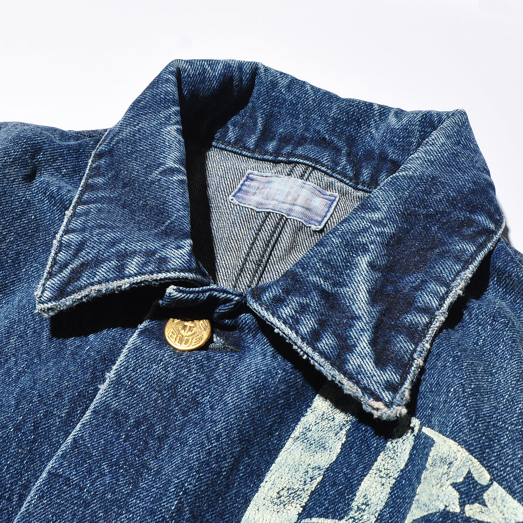 BLUE BLUE JK1926 Selvedge Denim Stencil Printed Work Jacket