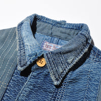 BLUE BLUE JK1912 Indigo Dyed Embroidery Special Coverall Jacket