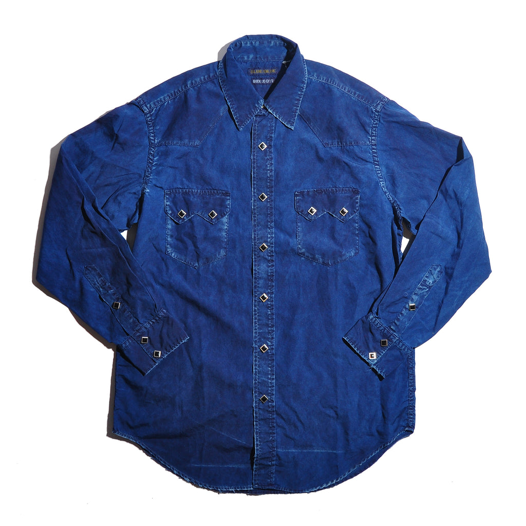 BLUE BLUE ST2311 Broadcloth Indigo Dyed Western Shirt