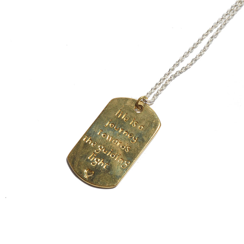 HRM 1503 N3B Journey Brass Dog Tag Necklace
