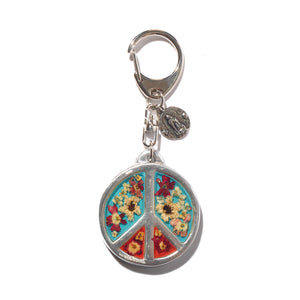 Bag Charm Flower Peace