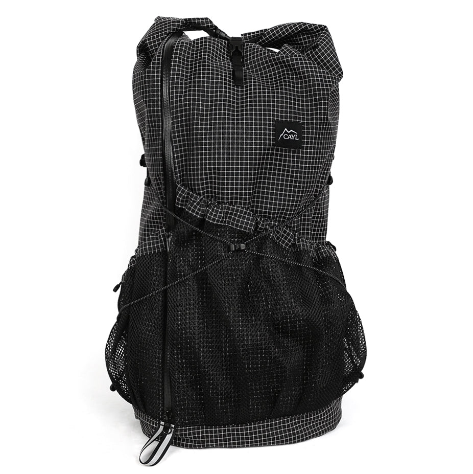 Mari Roll Top Black (Cayl Grid)