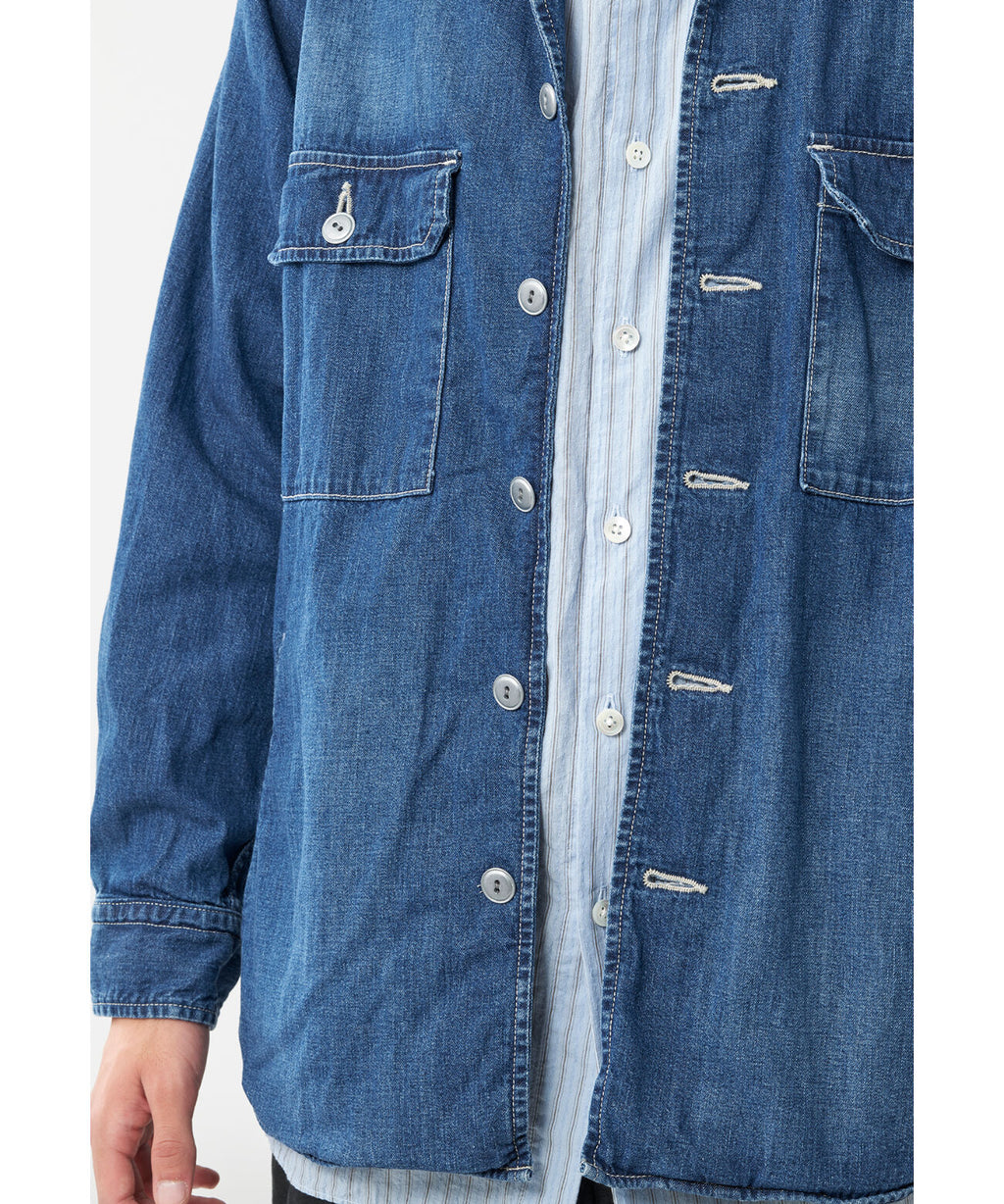 SAGE DE CRET DENIM SHIRT JACKET