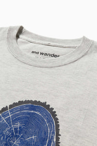 AND WANDER AW01-JT142 printed T woodprint