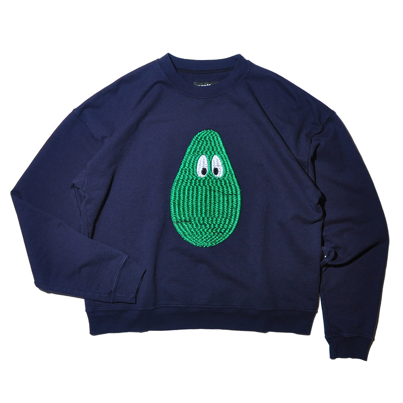 MONITALY M27752 CROPPED CREWNECK SWEATSHIRT W/3D EMBROIDERY