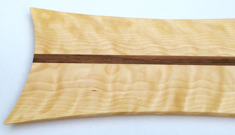 Curly Yellow Birch with Walnut Accent
