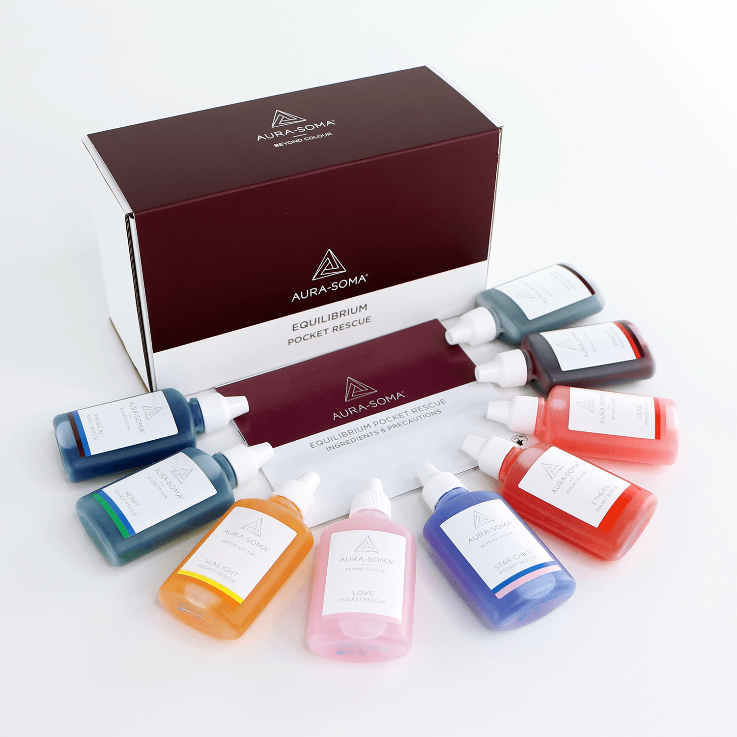 Aura-Soma Equilibrium Pocket Rescue Set 9 x 25 ml