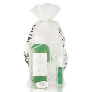 """Physical Body Detox Set"" Equilibrium B54 Klar/Klar, Flower Shower Olivgrün & Pomander Mini Tester Smaragdgrün"