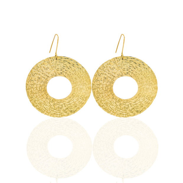 | Gold Plated Earring | Women Maya Earrings | Maya Circle Shape Earrings | Maya Earrings | Circle Shape Earrings | Earrings |