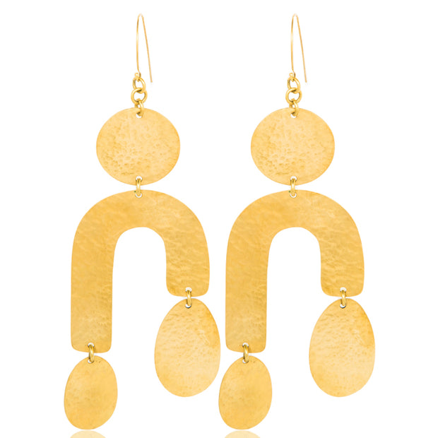 | Lela Gold Plated Earrings | U Shape Gold Plated Earrings | Lela Earrings | Lela U Shape Earrings | Gold Plated Earrings |