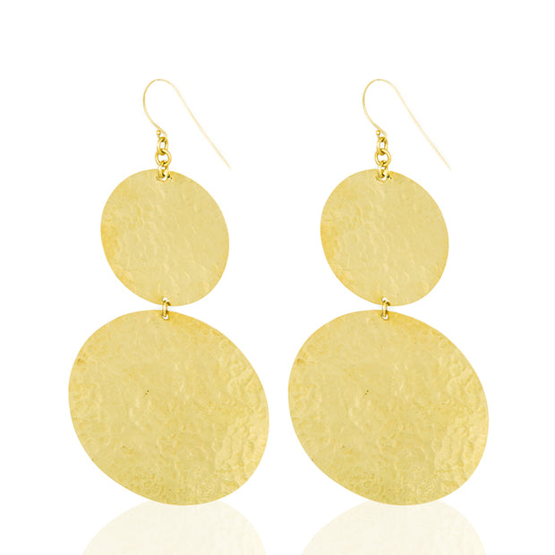 | Lineo Round Gold Plated Earrings | Lineo Women Earrings | Lineo Earrings | Lineo Round Earrings | Gold Plated Earrings |