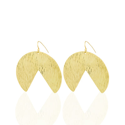 | Brass & Gold Plated Earrings | Loba Earrings | Loba Gold Plated Earrings | Gold Plated Earrings | Earrings |