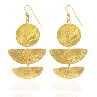 | Round Gold Plated Earrings | Zadia Gold Plated Earrings | Women Gold Plated Earrings | Gold Plated Earrings | Earrings |