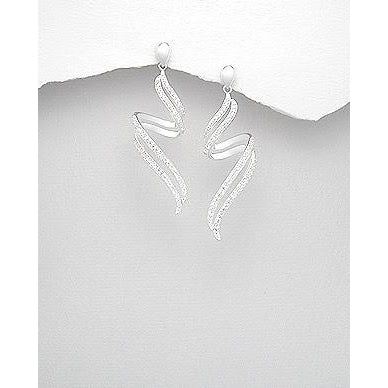 | Silver White Earrings | Zig Zag Silver Long White Earrings | Zig Zag White Earrings | Zig Zag Silver Earrings | Long White Earrings | White Earrings |