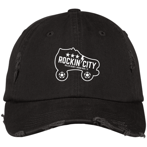 New Rockin' City Logo Distressed Cap