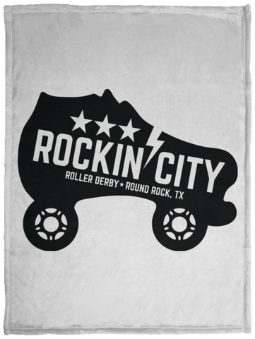 Cozy Plush Fleece Blanket - 30x40 NEW Rockin' City Logo