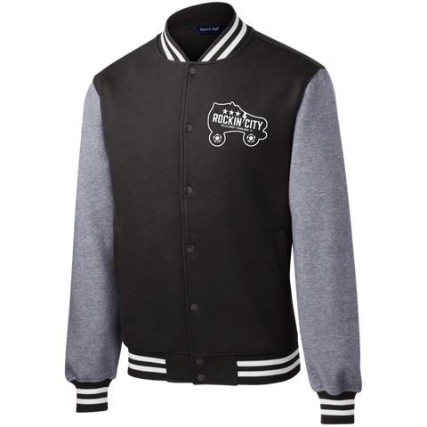New Rockin' City Logo Fleece Letterman Jacket