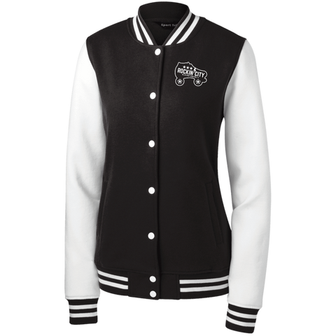 New Rockin' City Logo Women's Fleece Letterman Jacket