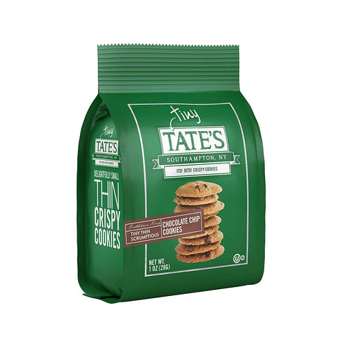 Tate's Bake Shop Thin & Crispy Cookies, Chocolate Chip, 1 Oz