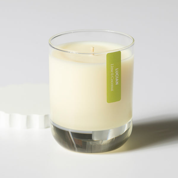 Lime & Coconut Glass Candle