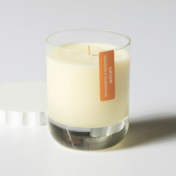 Mandarin & Sandalwood Glass Candle