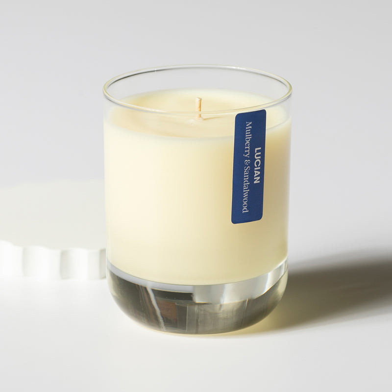 Mulberry & Sandalwood Glass Candle