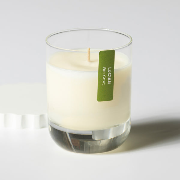 Pine Grove Glass Candle